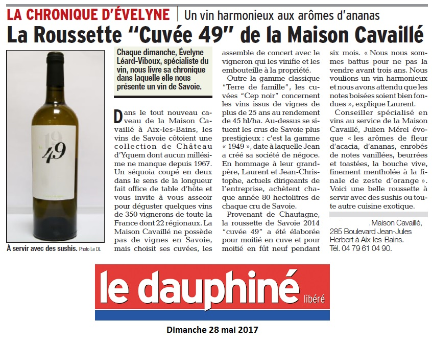 [cml_media_alt id='19589']Le Dauphiné chronique d'Evelyne mai 17[/cml_media_alt]